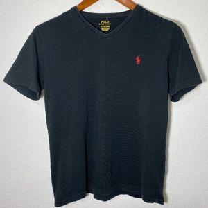 Polo Ralph Lauren Mens Small Black V Neck Shirt